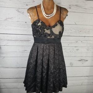 Walter Cocktail Dress Silk Size 6 Black